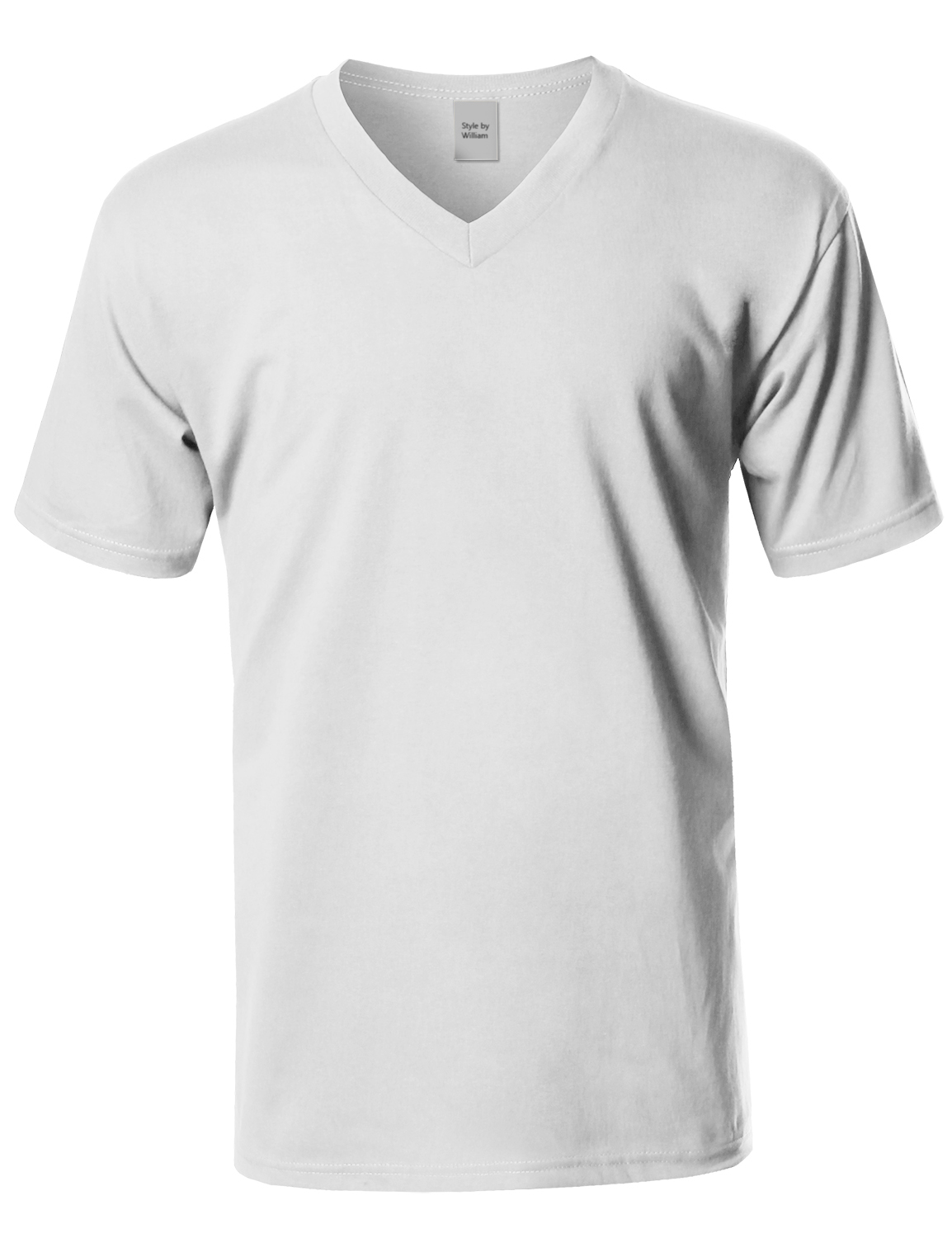 FashionOutfit Men/'s Basic Short Sleeve V-neck Cotton T-shirt S-5XL MADE IN USA