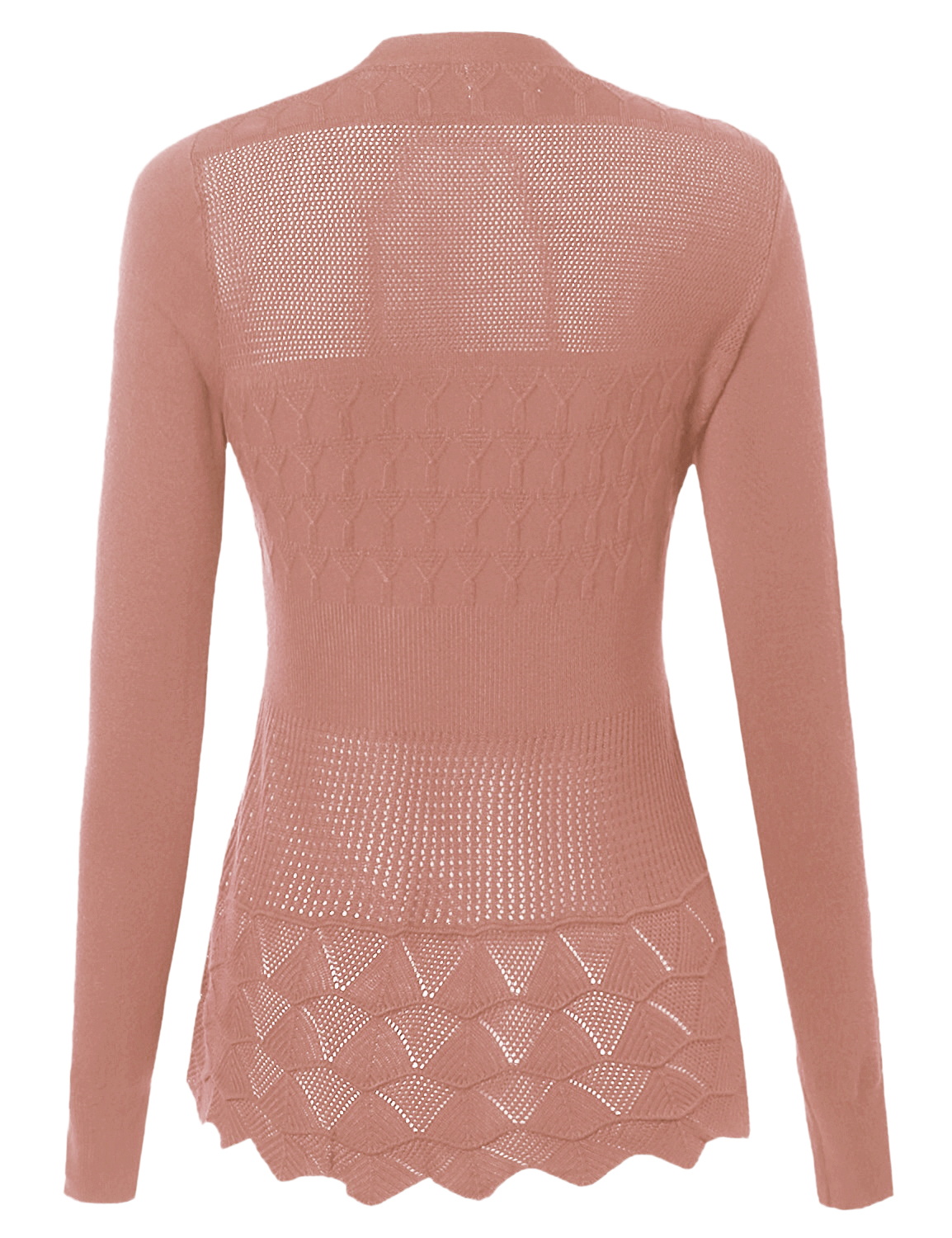 FashionOutfit Women's Open Front Long Sleeve Textured ...