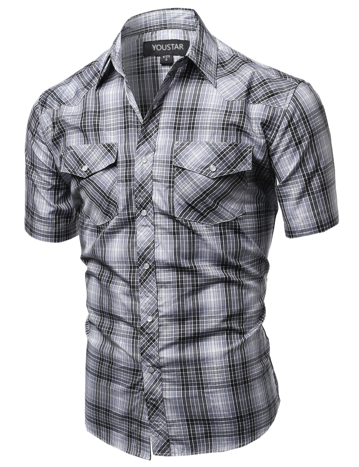 Fashionoutfit Men 39 S Western Casual Button Down Plaid Check