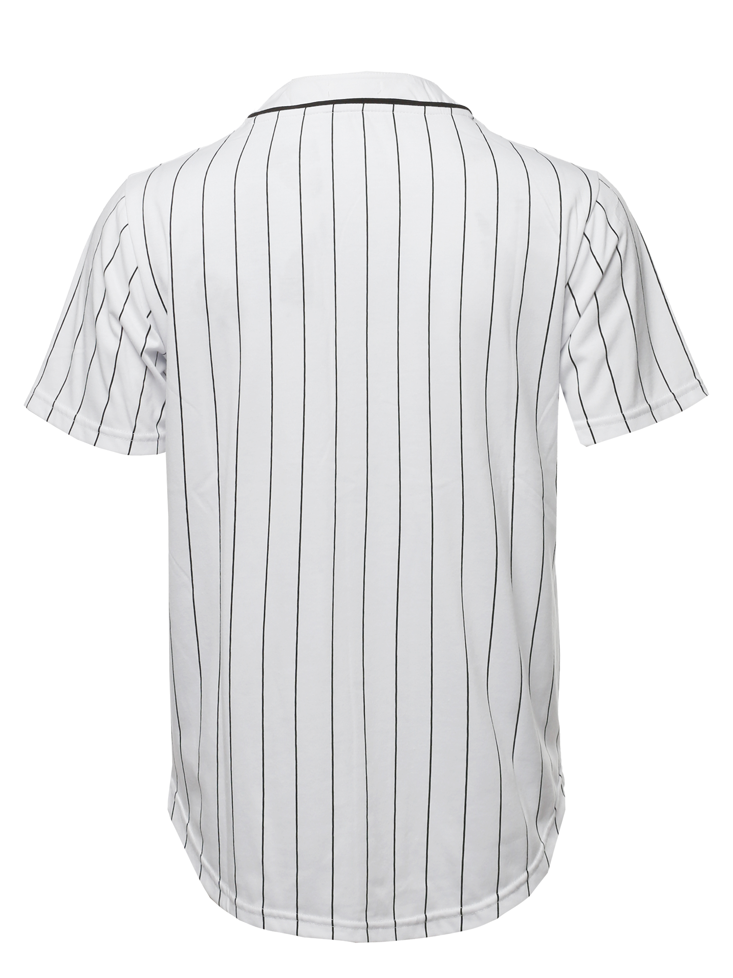 FashionOutfit Men/'s Solid Hipster Baseball Team Pin Stripe Jersey Top