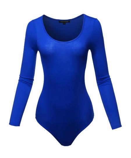Women's Classic Solid Long Sleeve Scoop Neck Bodysuit