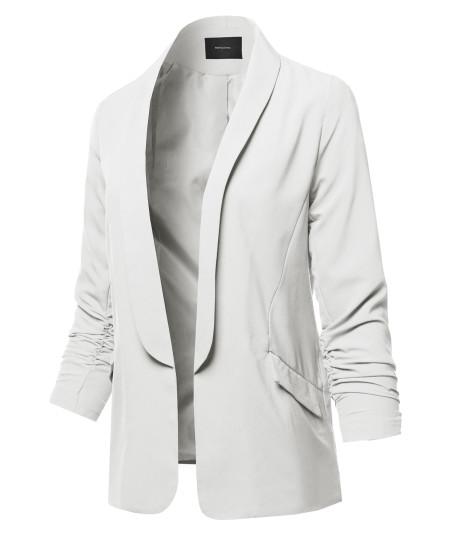 Women's Basic Open Front Office Blazer Jacket
