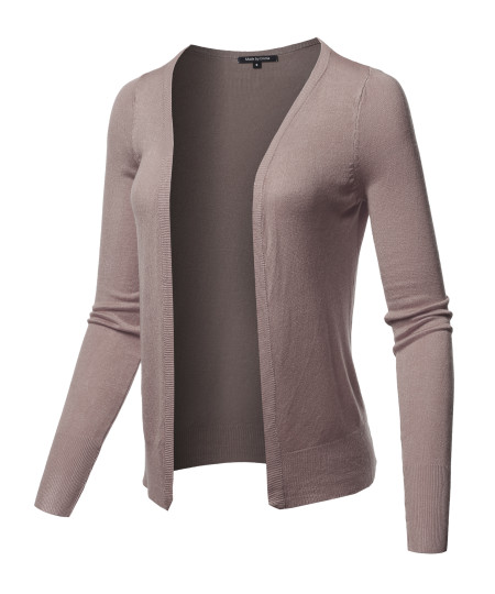 Women's Light Weight Open Front Casual Formal Look Soft Knit Summer Cardigan