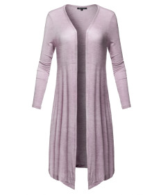 Women's Casual Summer High Quality Soft Light Weight Long Cardigan