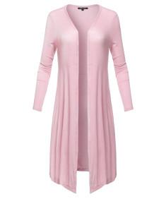 Women's Casual Summer High Quality Soft Side Pockets Light Weight Long Cardigan