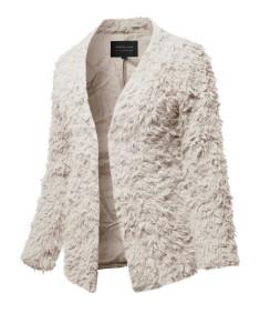 Women's Casual Warm Soft Fluffy Faux Fur Winter Jacket Coat Outwear