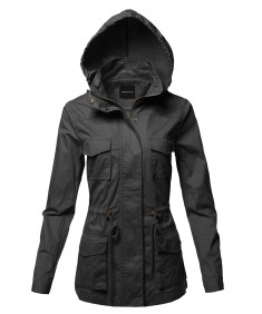 Women's Anorak Utility Safari Hoodie Cotton Jacket