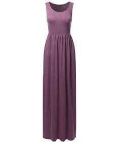 Women's Casual Premium Fabric Side Pockets Loose Long Maxi Dress