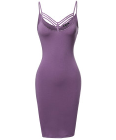 Women's Solid Lattice-Trim Body-Con Mini Cocktail Dress