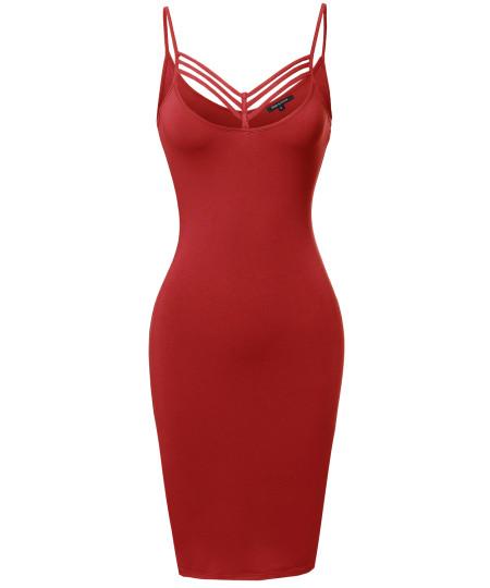 Women's Solid Lattice-Trim Body-Con Mini Cocktail Dress