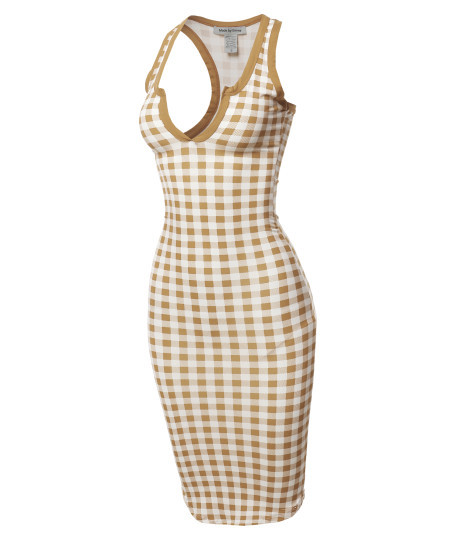Women's Sexy Solid  Split Neck line Front Bodycon Midi Dress