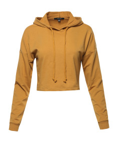 Women's ACTIVE FRENCH TERRY LONG SLEEVE CROP HOODIE