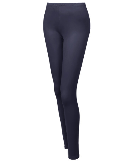 Women's Solid Various Color Full Length Stretchable Leggings