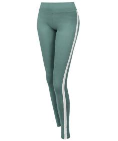 Women's Yoga Fitness Workout Tranning Side stripe Stretch Long Leggings