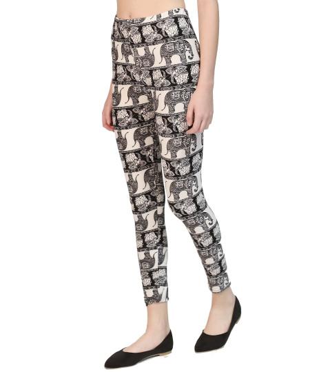 Women's Popular Best Printed Full Length Soft Stretch Leggings