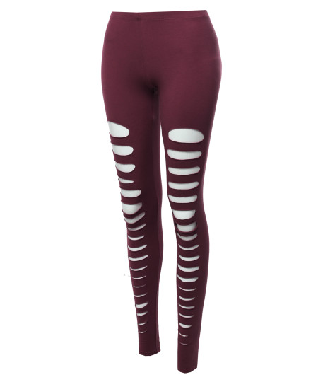 Women's Solid Sexy Front Cut-Out Leggings