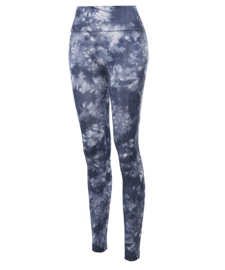 Women's High Waist Tummy Control Tie Dye Sublimation Leggings Yoga pants