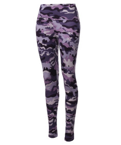 Women's High Waist Fleece Lined Camo Sports Pants