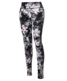 Women's High Waist Soft Brushed Floral Printed Yoga Pants