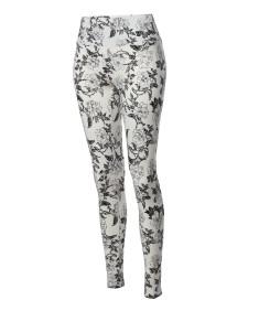 Women's High Waist Tummy Control Tropical Print Yoga Pants