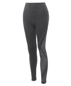Women's High Waist Fish Net Panel Leggings