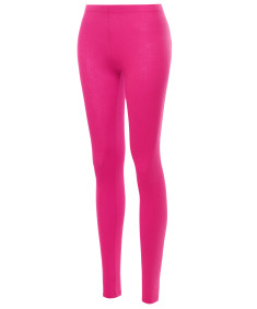 Women's Basic Cotton Ankle Solid Leggings