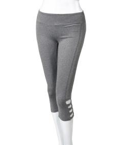 Women's Solid High Waist Criss-Cross Capri Leggings