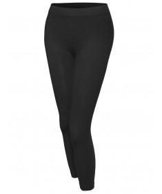 Women's Basic Solid High Waist Capri Leggings