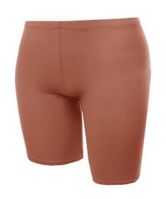 Women's Bike Yoga Shorts Cotton Spandex Stretch Boyshorts