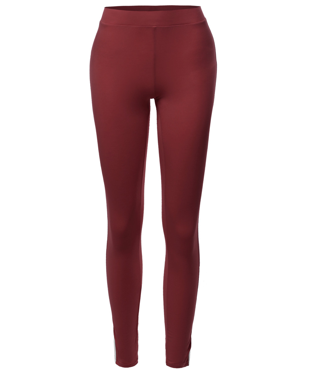 FashionOutfit Women/'s Bottom Casual Elastic Contrast Side Panel Comfortable Pant