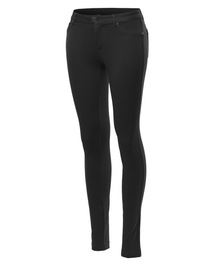 Women's Basic Stretchy Skinny Pants