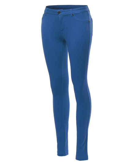 Women's Basic Stretchy Skinny Pants