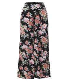 Women's Floral Wide Leg Pants Culottes Trouser