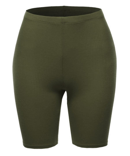 Women's Solid Cute Biker Shorts