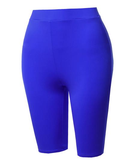 Women's High Waisted Spandex Biker Shorts Yoga Leggings