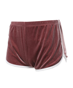 Women's Velvet Workout Running Athletic Active Shorts