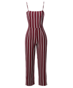 Women's Casual Stripe Camisole Jumpsuit Romper