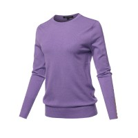 Women's Casual Premium quality With Gold Button Stretchy Crew neck Sweater