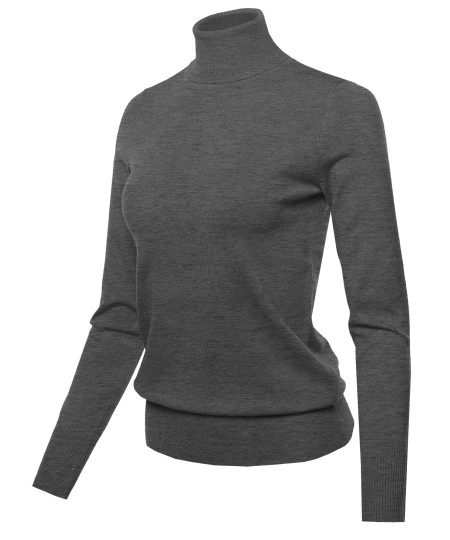 Women's LONG SLEEVE TURTLE NECK SWEATER