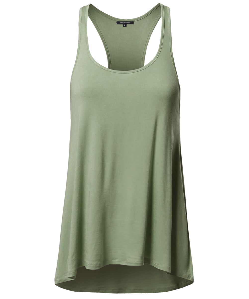 5d790541e6a06 Women s Basic Solid Relaxed Fit Racer-back Tank Top - FashionOutfit.com