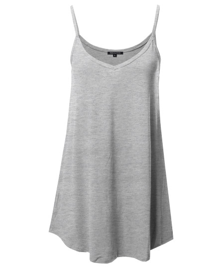 Women's Causal Premium Quality Front and Back Reversible Spaghetti Cami Top