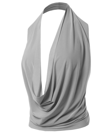 Women's Sexy Halter Neck Backless Party Cocktail Top