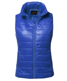 Women's Casual Light Weight Quilted Padding Vest