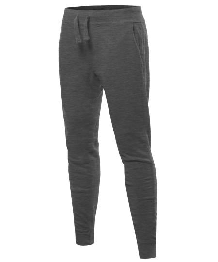 Men's Basic Drawstring Harem Jogger Pants