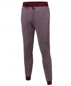 Men's Two Tone Fleece Jogger Pants