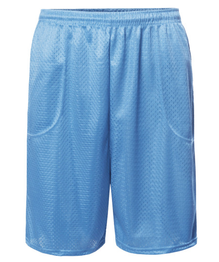 Men's Athletic Double Layer Drawcord Mesh Shorts S-5XL