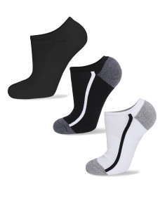 Men's Cotton Assorted Athletic Low Socks No - Slip Cut