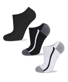 Men's Cotton Assorted Athletic Low Socks No - Slip Cut