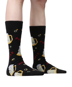 Men's Premium Quality Casual Graphic Dress Socks (1 Pair)