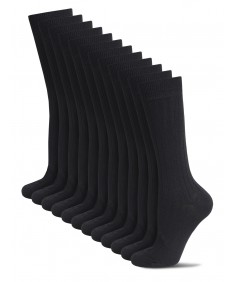 Men's Cotton Classic Dress Socks Solid Ribbed Socks